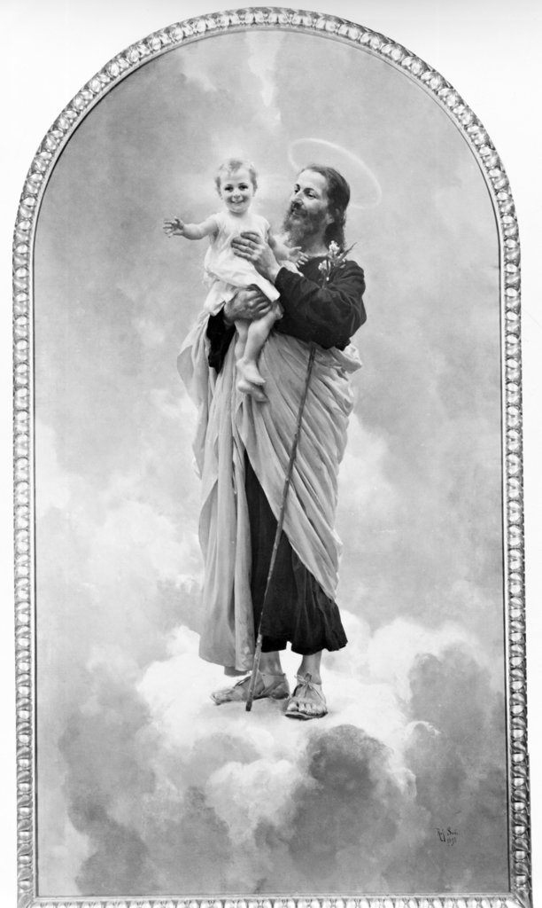 Stock Photo: 990-1119 St. Joseph by Raffaello Sorbi, print, 1844-1931