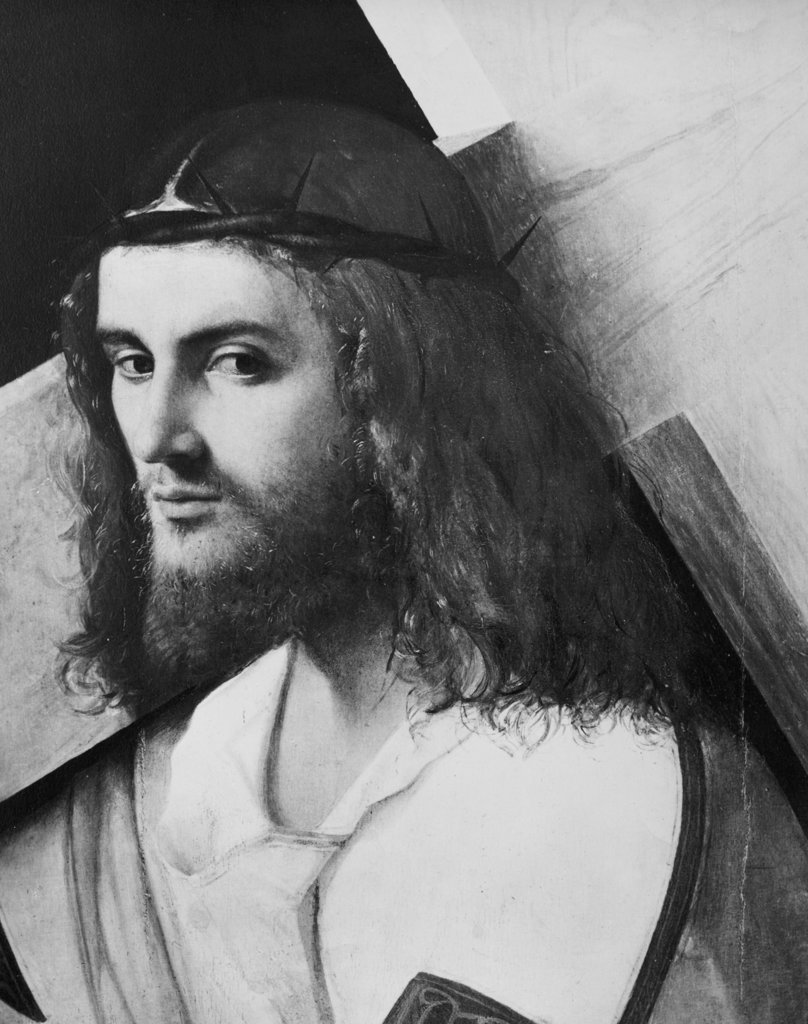 Stock Photo: 990-1136 Jesus Bearing His Cross by Giorgione, print, 1477-1510