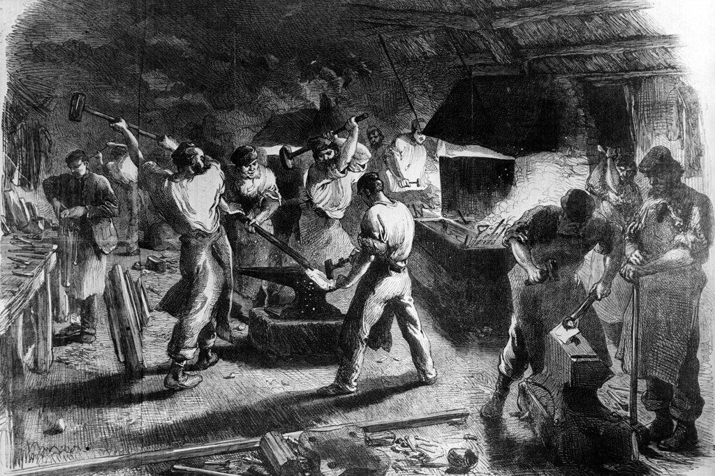 Stock Photo: 990-1174 Blacksmiths, print
