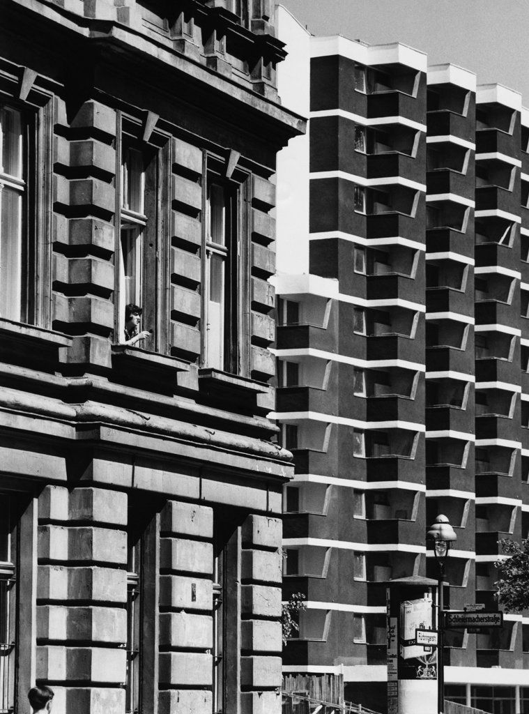 Facade of buildings, Berlin, Germany : Stock Photo