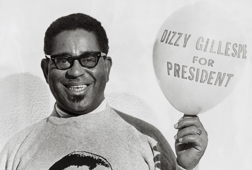 Stock Photo: 990-2218 Dizzy Gillespie Jazz Musician (1917-1993)