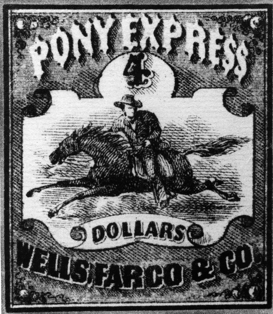 Pony Express, print : Stock Photo