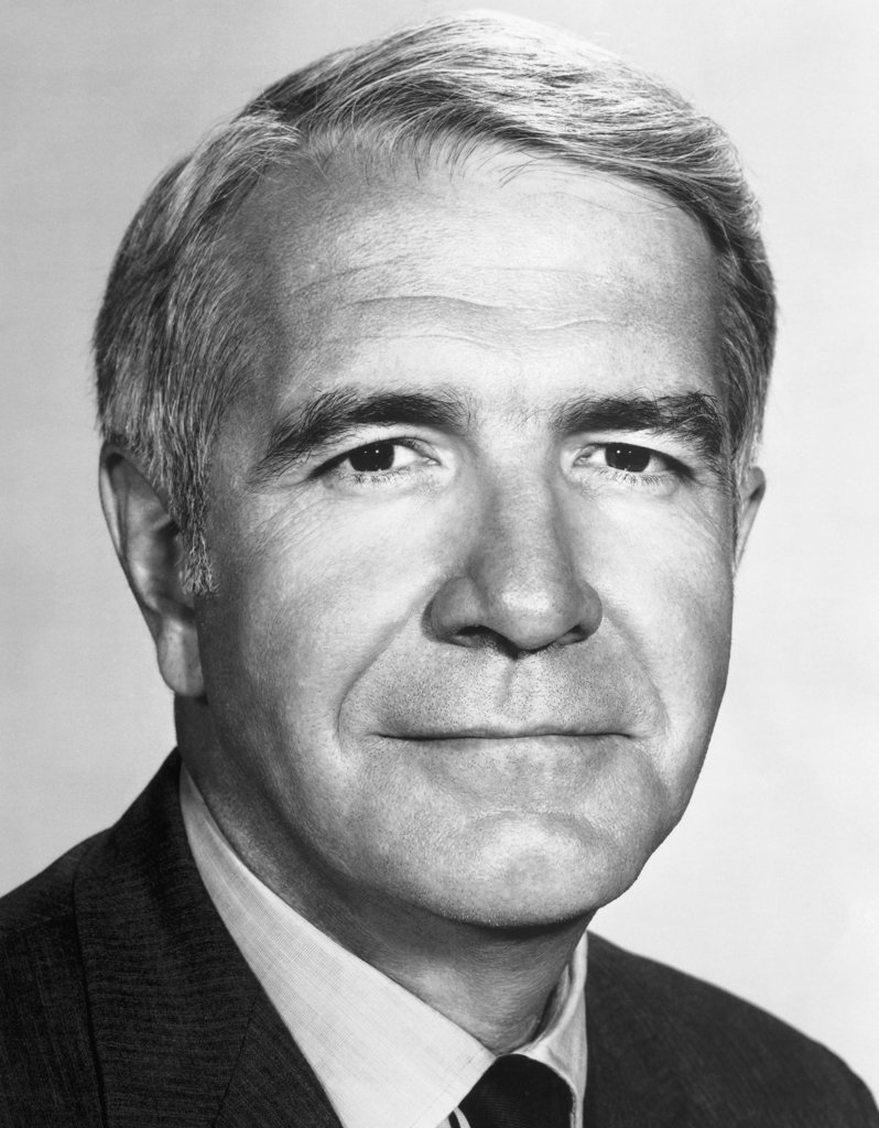 Stock Photo: 990-2456 Harry Reasoner, American journalist, (1923-1991)