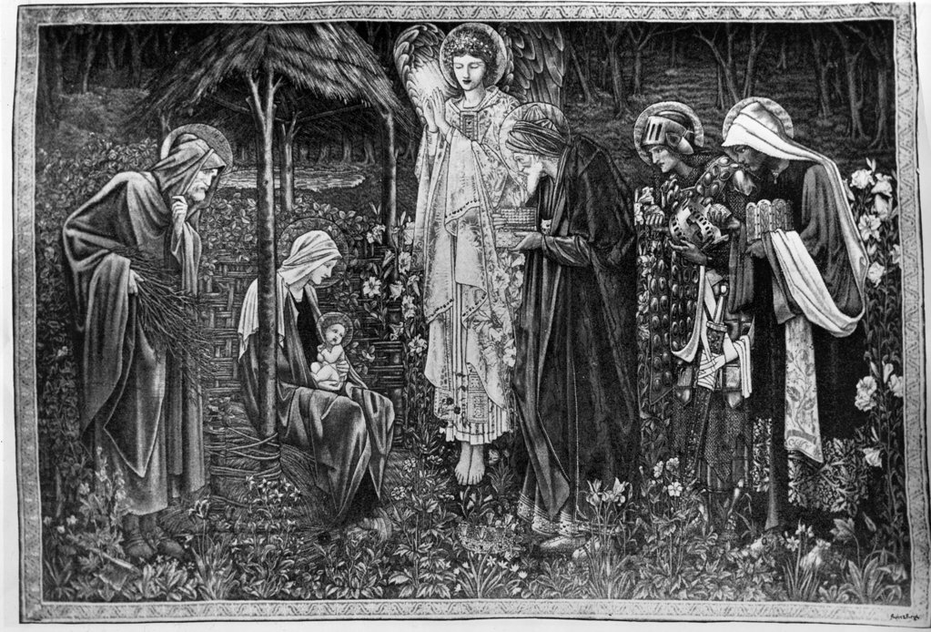 The Star of Bethlehem by Edward Burne-Jones, print, 1833-1898 : Stock Photo