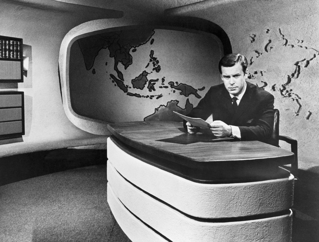 Stock Photo: 990-2520 Peter Jennings Broadcast Journalist