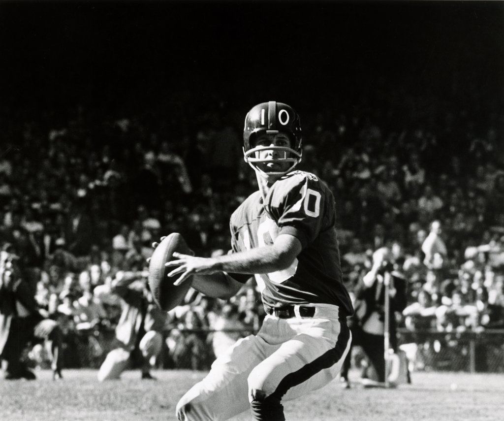 Stock Photo: 990-2705 USA, Minneapolis, Hubert H. Humphrey Metrodome, Fran Tarkenton