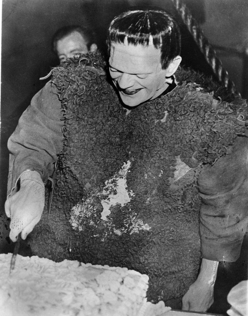 Boris Karloff in make-up as Frankenstein : Stock Photo