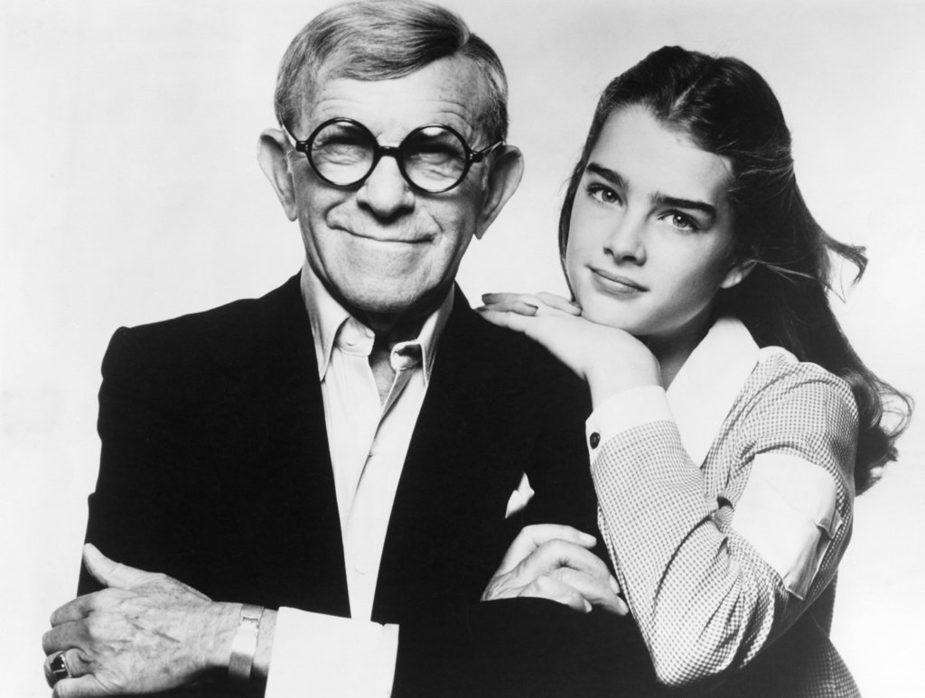 George Burns and Brooke Shields, Just You and Me Kid, 1979 : Stock Photo