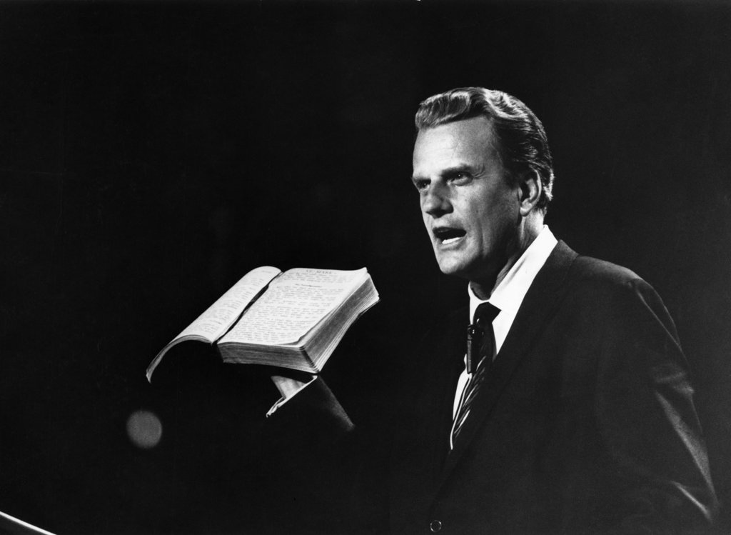 Billy Graham, Christian Evangelist, born 1918 : Stock Photo