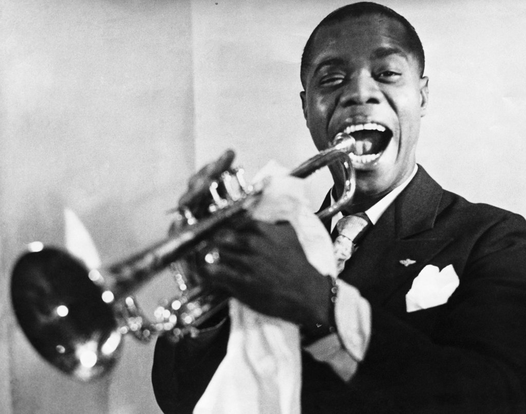 Stock Photo: 990-2896 Louis Armstrong, American Jazz Trumpeter, (1900-1971)