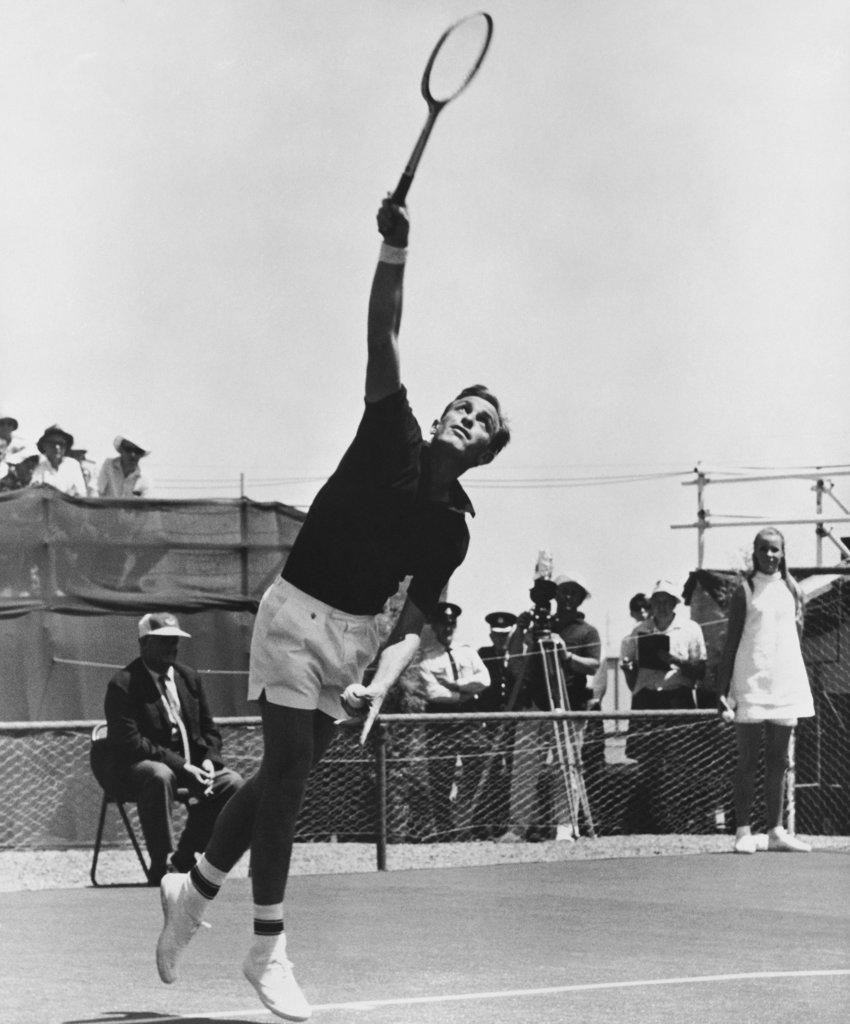 Stock Photo: 990-3044 John Newcombe Professional Tennis Player