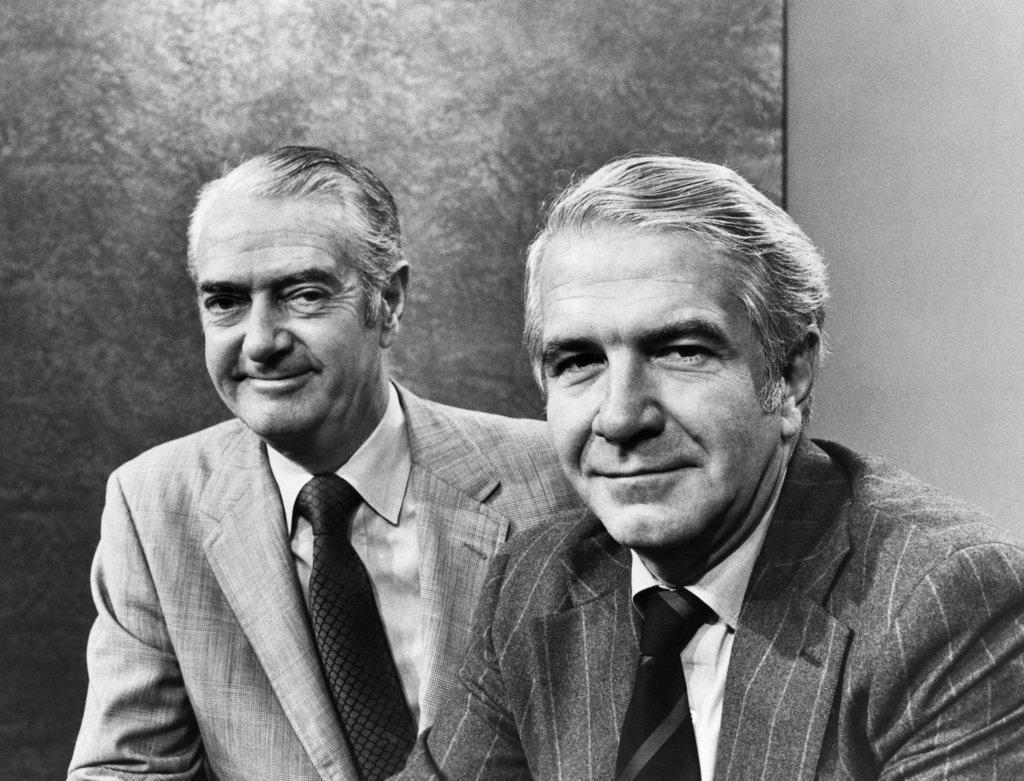 Stock Photo: 990-3063 Howard K. Smith and Harry Reasoner
