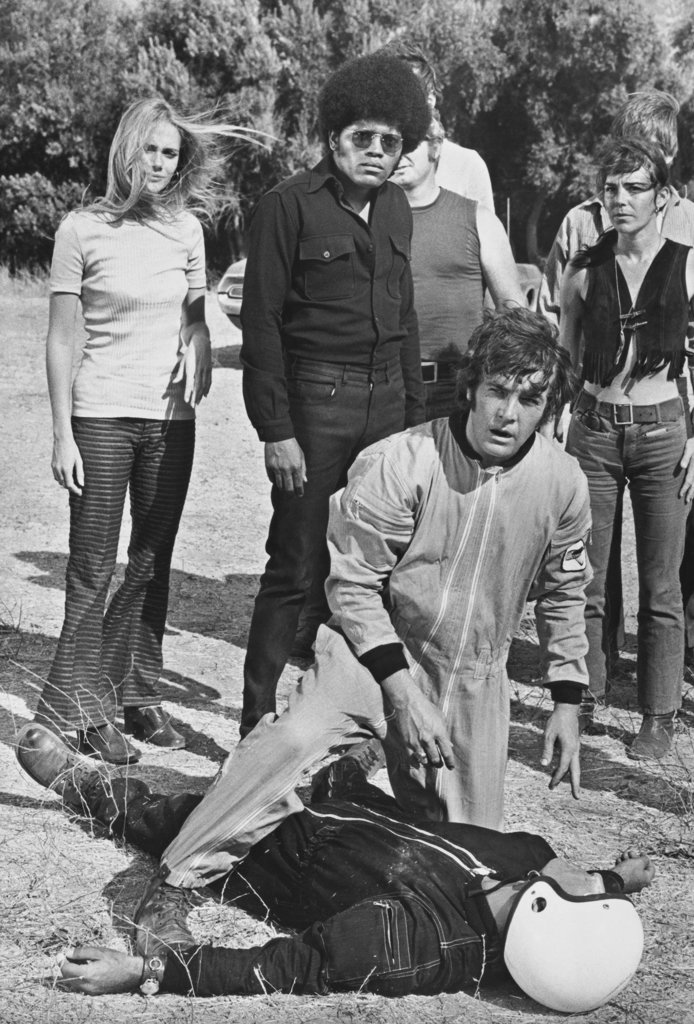 """Stock Photo: 990-3116 Peggy Lipton, Clarence Williams III and Michael Cole in """"The Mod Squad"""""""