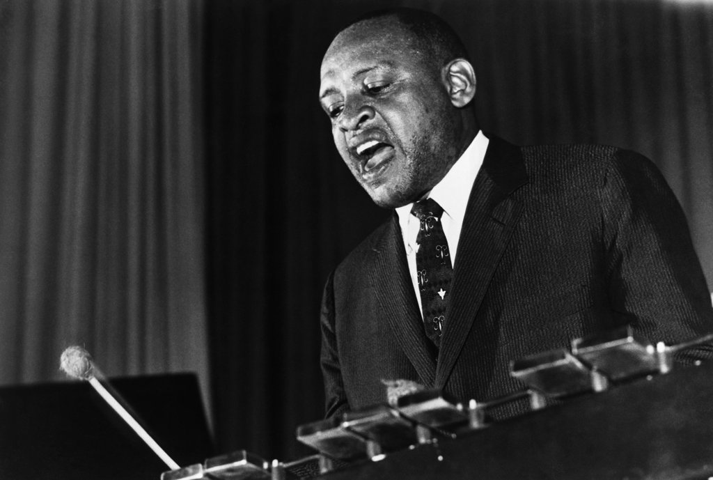 Stock Photo: 990-324 Lionel Hampton, Jazz Bandleader & Percussionist, (1908-2002)