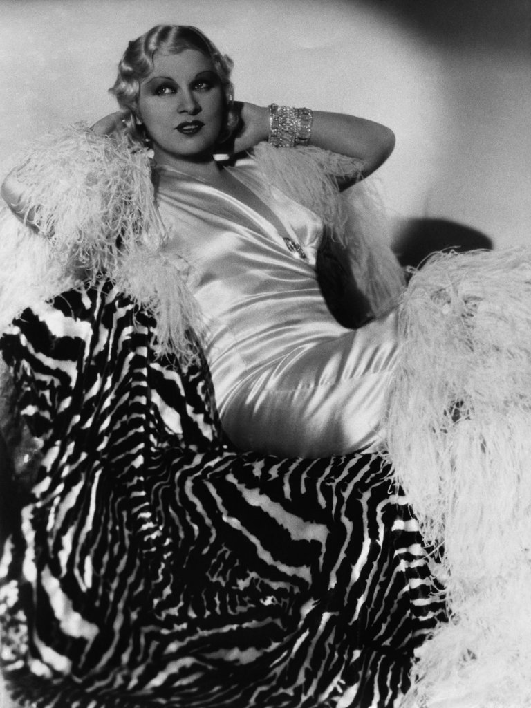 Stock Photo: 990-33427 Mae West (1893-1980), American Actress, Author, Singer