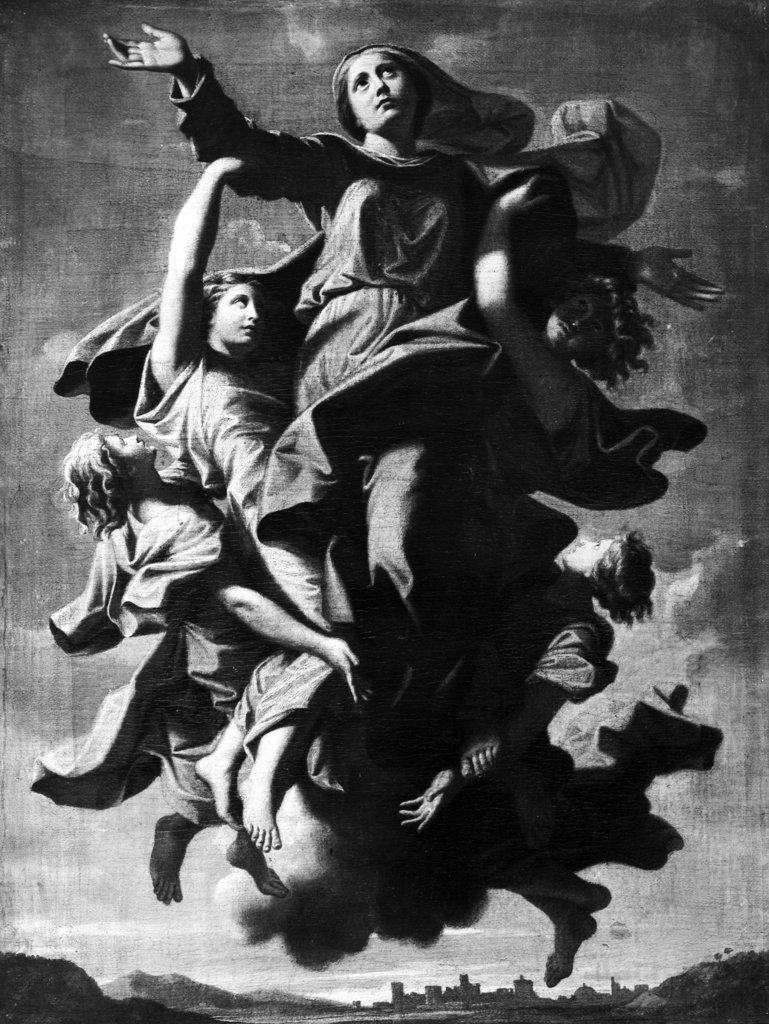 Stock Photo: 990-3663 Assumption by Nicolas Poussin, print, 1594-1665