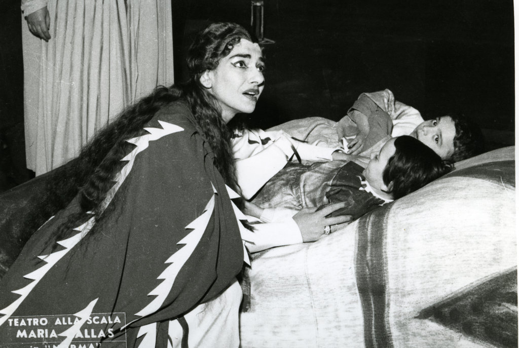 Maria Callas, La Scala Theatre : Stock Photo