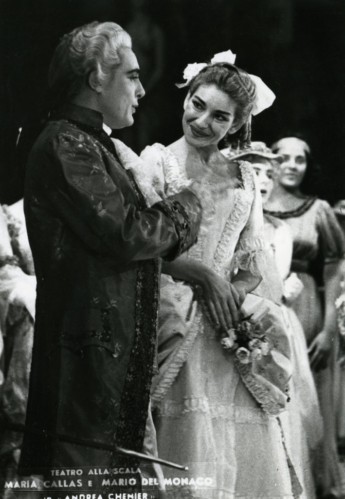 Maria Callas and Mario Del Monaco, La Scala Theatre, : Stock Photo