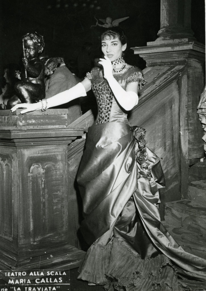 Stock Photo: 990-4261 Maria Callas, La Scala Theatre