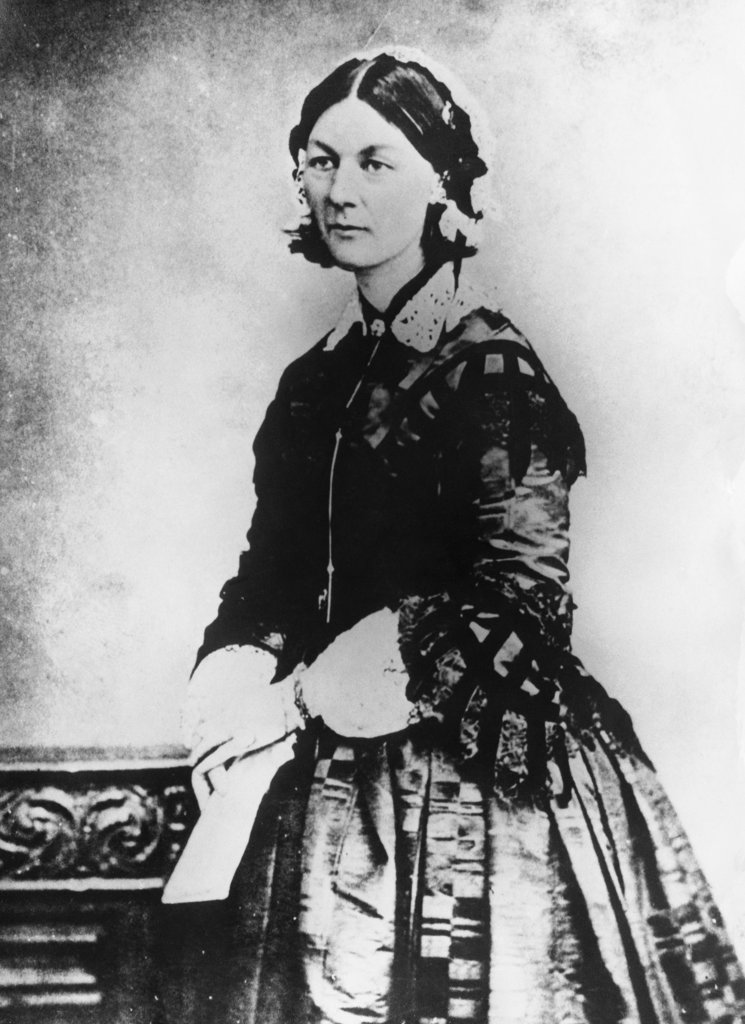 Stock Photo: 990-4495 Florence Nightingale, (1820-1910) British Nurse