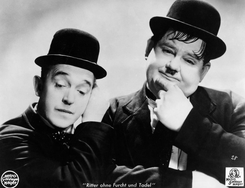 Stock Photo: 990-5790 Stan Laurel and Oliver Hardy, portrait, (1890-1965), (1892-1957)