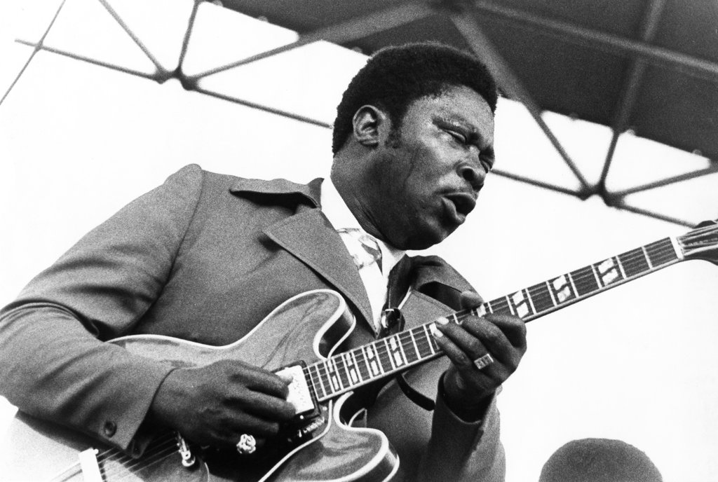 Stock Photo: 990-649 B.B. King (b.1925-) Blues guitarist and singer-songwriter