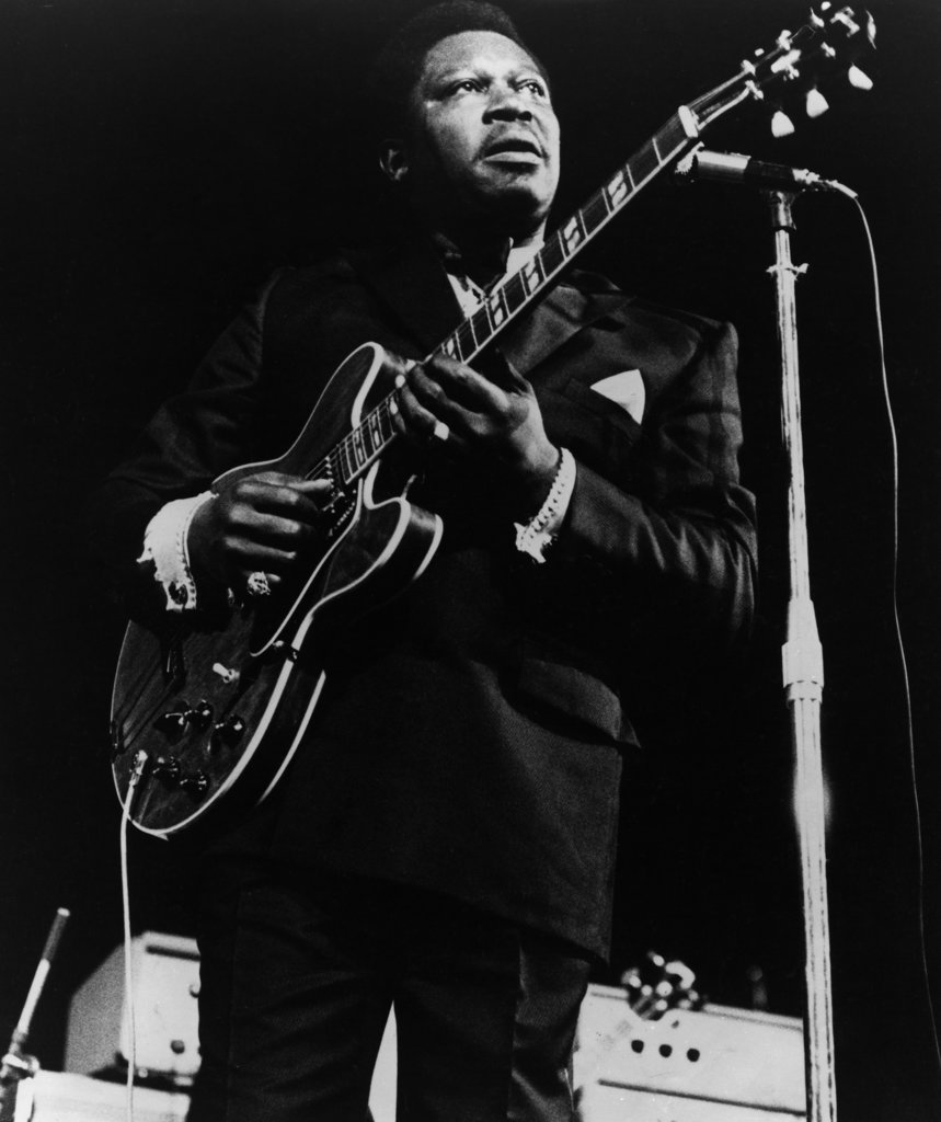 Stock Photo: 990-650 B.B. King (b.1925-) Blues guitarist and singer-songwriter