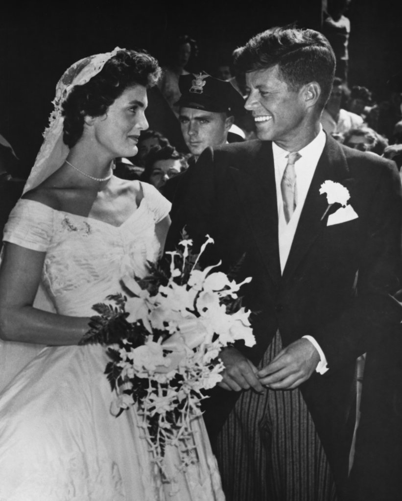 Stock Photo: 990-697 Senator John F.Kennedy and Jacqueline Bouvier, September 12, 1953