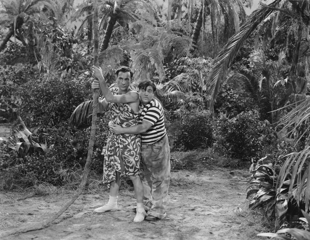 "Bud Abbott and Lou Costello ""Pardon My Sarong"" 1942 : Stock Photo"