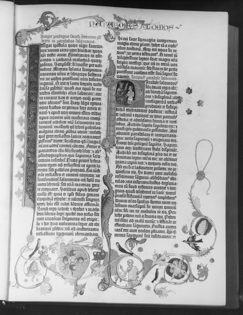 Stock Photo: 990-877 Gutenberg Bible