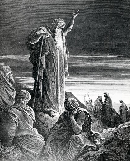 Stock Photo: 995-103140 God Appears to Ezekiel, Gustave Dore, illustration, (1832-1883)