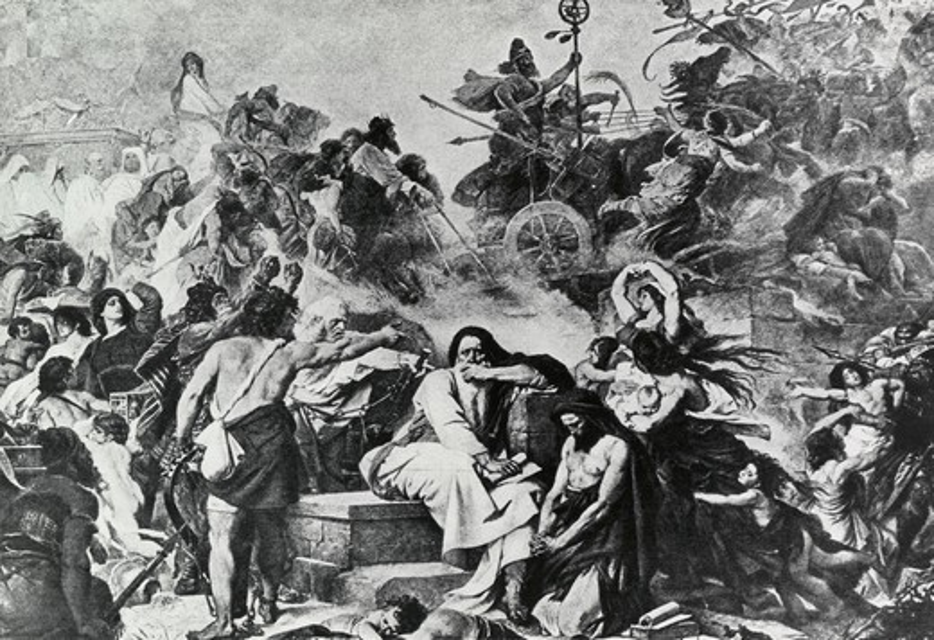 Stock Photo: 995-103154 Jewish Captives Weeping Over Babylonian Captivity Eduard Bendermann (1811-1889 German)