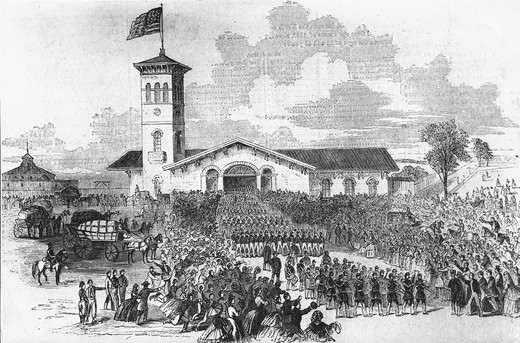The Union Railroad Depot: Arrival of the New York 71 Regiment