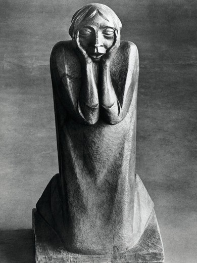 Weeping Woman, Ernst Barlach, (1870-1938 German) : Stock Photo