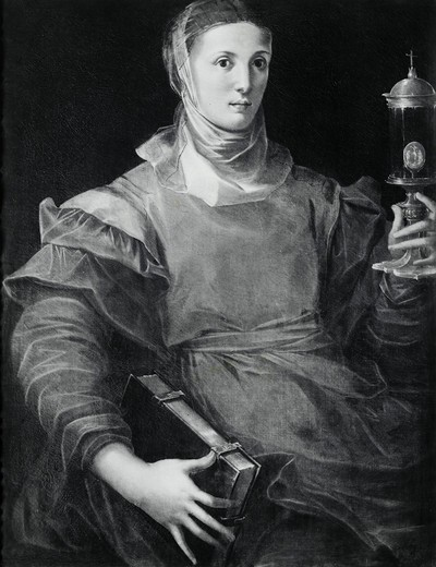 Stock Photo: 995-103256 Saint Clare, G. Mazzola Bedolli, (ca.1505-ca.1569 Italian)