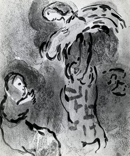 Stock Photo: 995-103268 Ruth The Gleaner, Marc Chagall, (1887-1985 Russian)