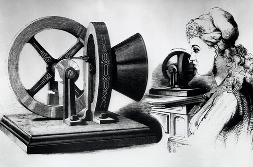 The Phonomotor, Artist Unknown, : Stock Photo