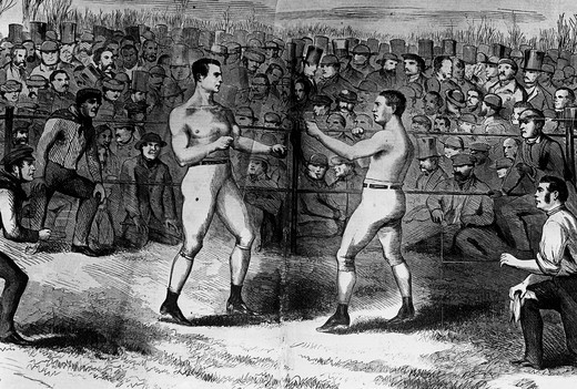 Stock Photo: 995-103300 Boxing, 1860, Artist Unknown