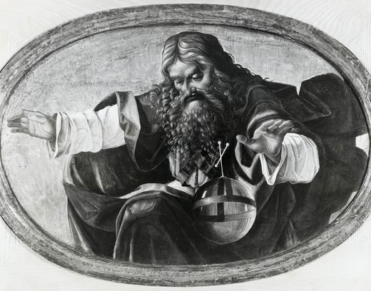 Stock Photo: 995-103303 God The Father, Luca Signorelli, (1445/50-1523 Italian)