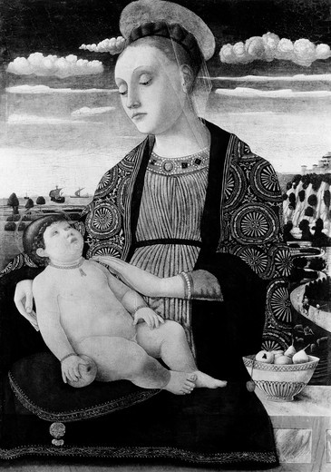 Madonna and Child by Domenico Morone, (circa 1442-after 1517) from Widener Collection : Stock Photo