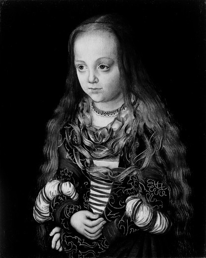 Stock Photo: 995-110336 A Princess Of Saxony by Lucas Cranach The Elder, circa 1517, (1472-1553), USA, Washington DC, National Gallery of Art, Ralph and Mary Booth Collection