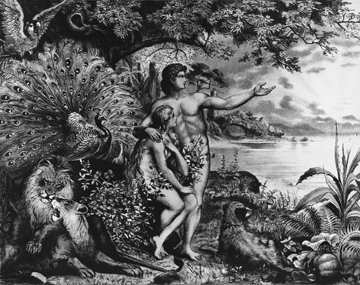 Stock Photo: 995-148 Adam and Eve in the Garden of Eden Heinrich Jenny