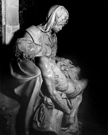 Stock Photo: 995-234 Pieta by Michelangelo Buonarroti, marble, 1499, 1475-1564, Italy, Vatican, St. Peter's Basilica