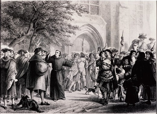 Stock Photo: 995-3583 Highlights of the Life of Martin Luther: The Indulgences, October 31, 1517
