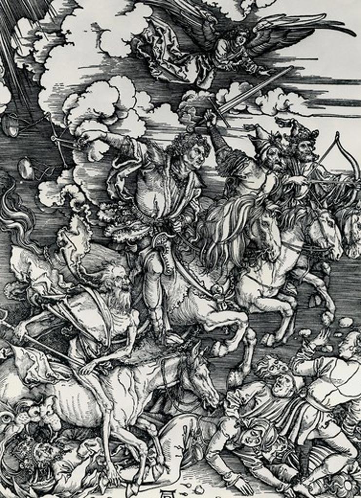 Stock Photo: 995-3619 The Four Horsemen Albrecht Durer 1471-1528 German