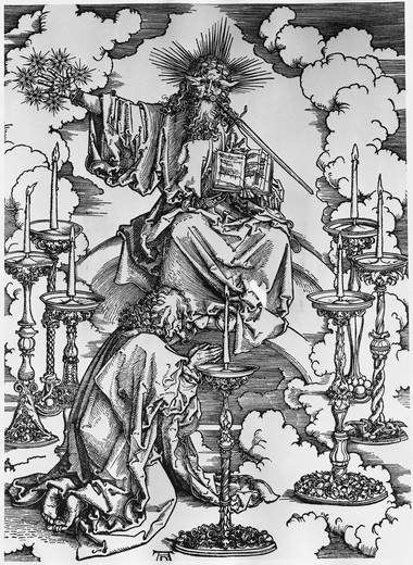 Stock Photo: 995-3625 Vision of the Seven Candlesticks