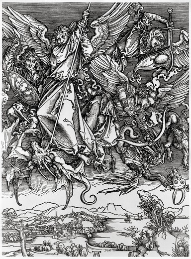 Stock Photo: 995-3626 St. Michael Fighting the Dragon