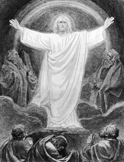 Stock Photo: 995-87070 Christ's Transfiguration by Rudolf Schaefer, 1878-1961