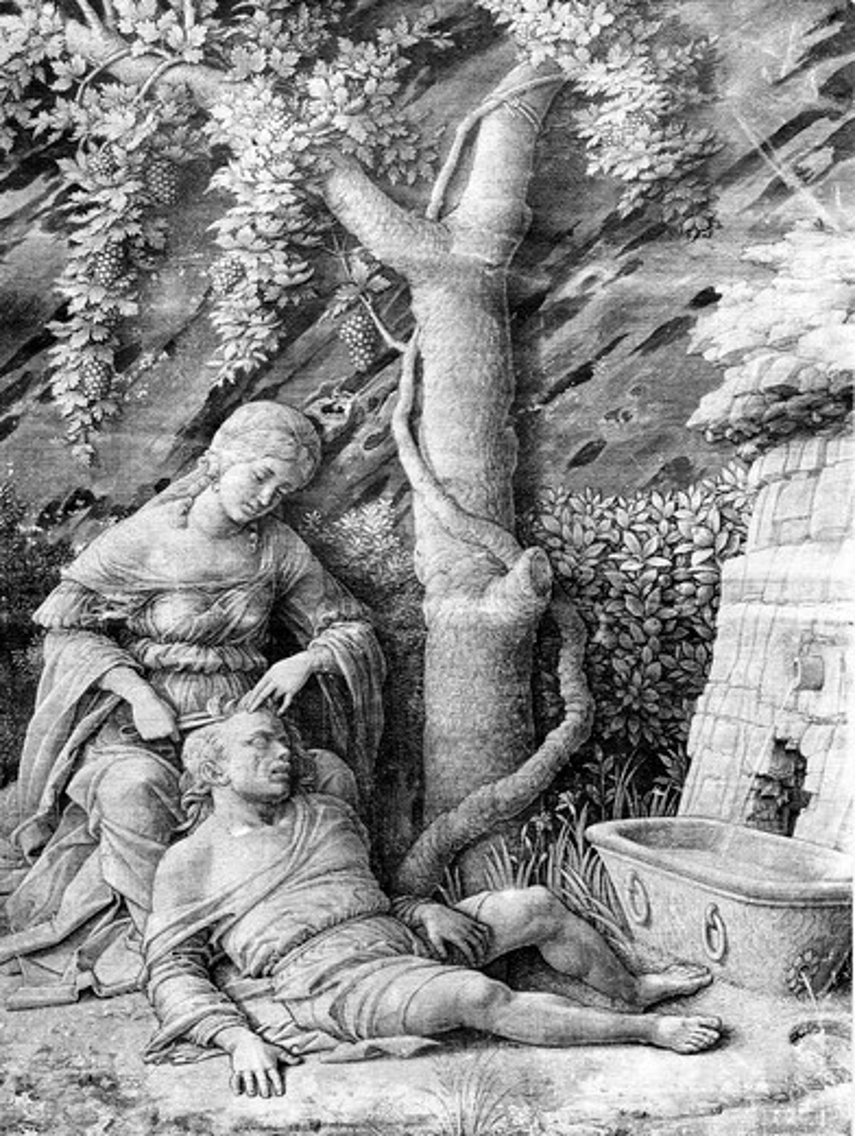 Samson and Delilah by Andrea Mantegna, 1431-1506 : Stock Photo