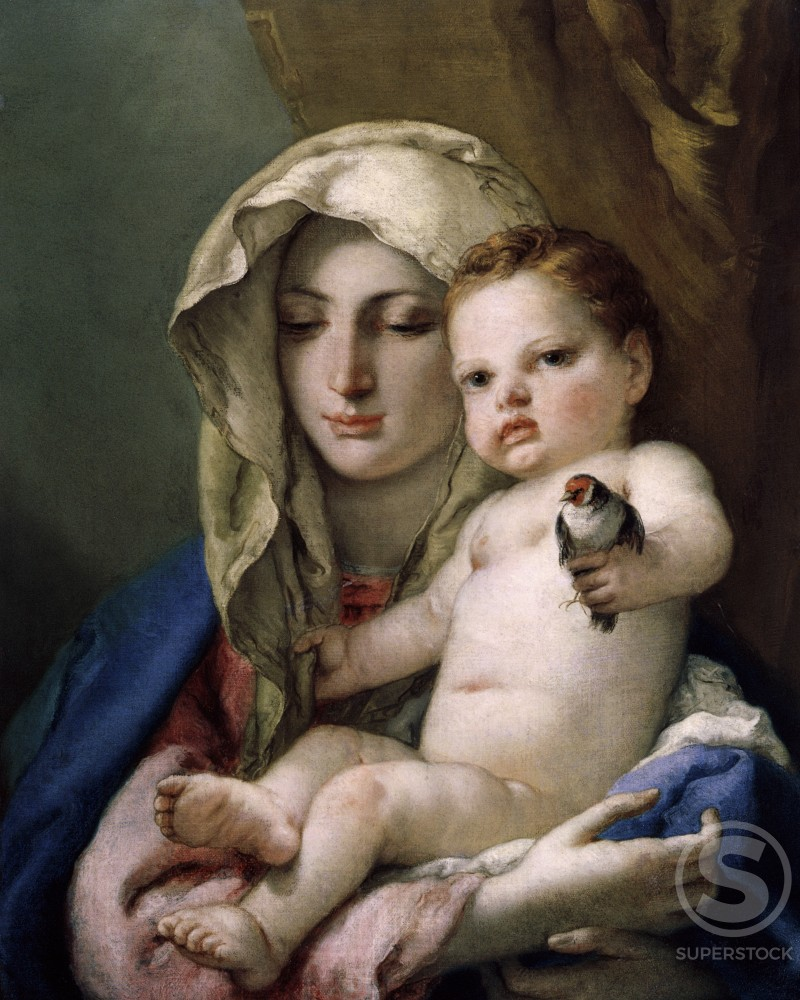 Stock Photo: 998-116 Madonna of the Goldfinch 